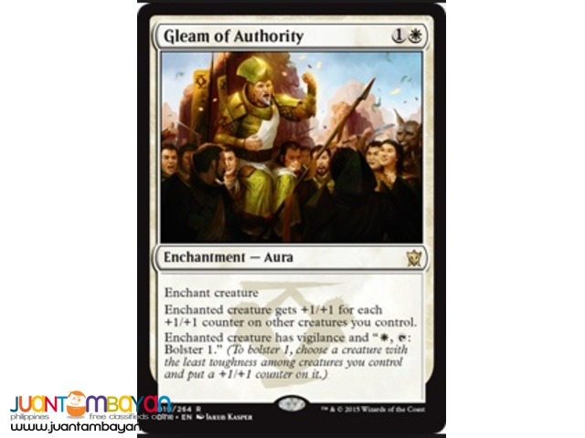 Gleam of Authority (Magic the Gathering Trading Card Game)