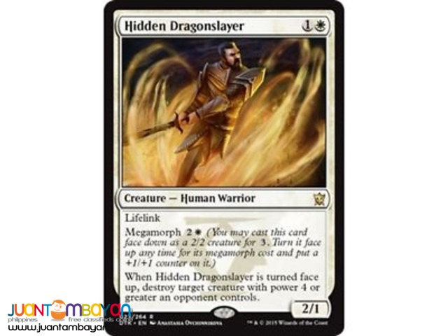 Hidden Dragonslayer (Magic the Gathering Trading Card Game)