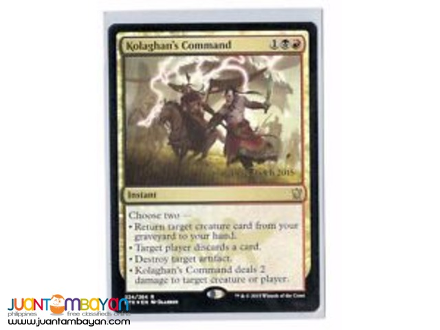 Kolaghan's Command (Magic the Gathering Trading Card Game)