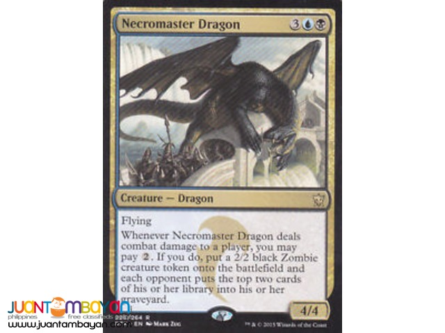 Necromaster Dragon (Magic the Gathering Trading Card Game)