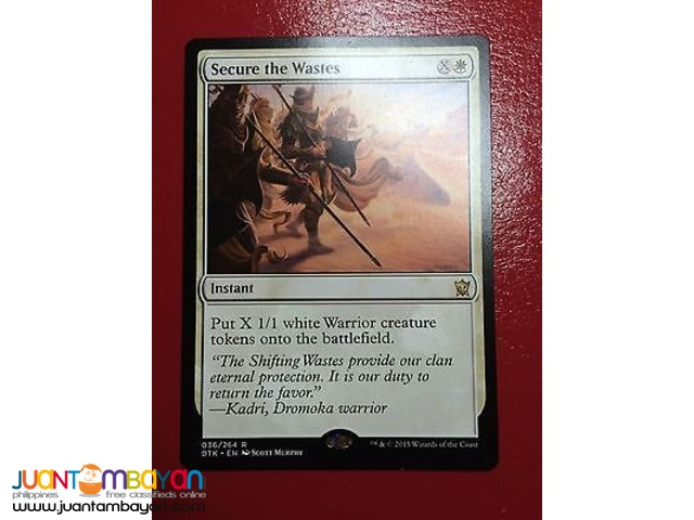 Secure the Wastes (Magic the Gathering Trading Card Game)