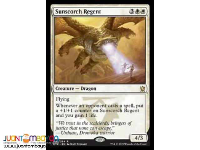 Sunscorch Regent (Magic the Gathering Trading Card Game)