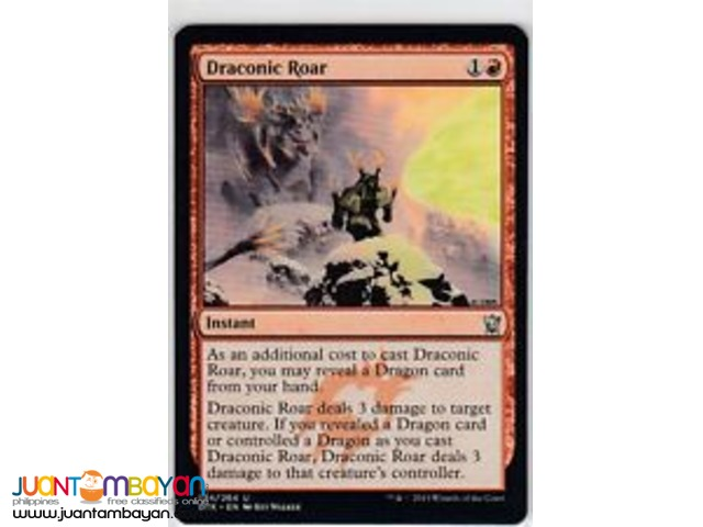 Draconic Roar (Magic the Gathering Trading Card Game)