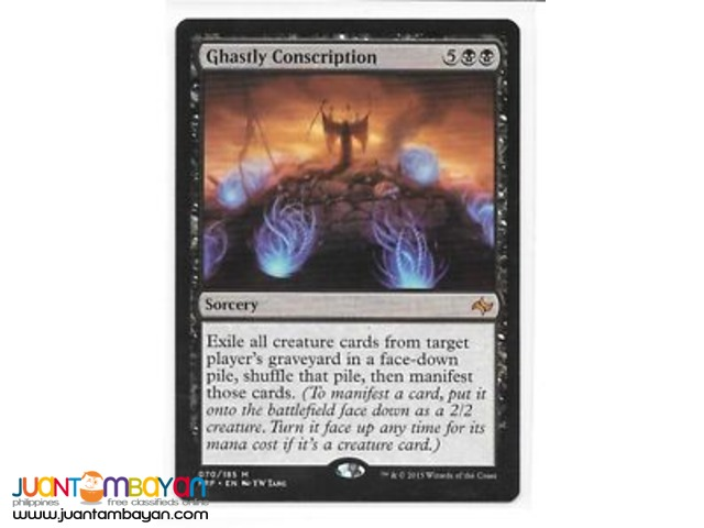 Ghastly Conscription (Magic the Gathering Trading Card Game)