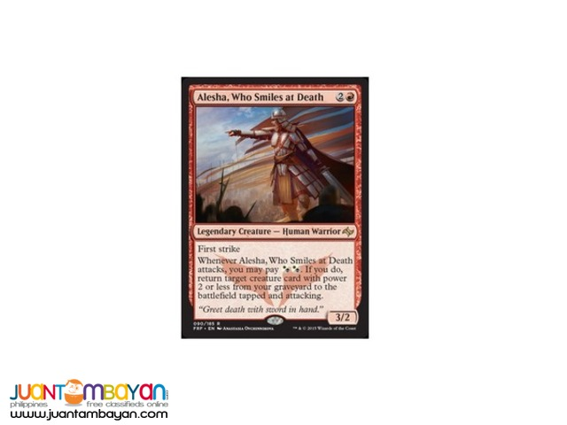 Alesha, Who Smiles at Death (Magic the Gathering Trading Card Game)