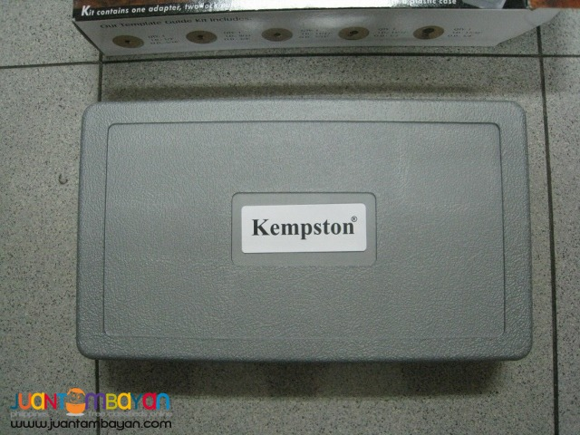 Kempston 99006 9 pcs Solid Brass Template Guide Kit Without Adapter