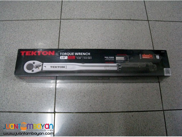 Tekton 24330 3/8-inch Drive Click Torque Wrench, 10-80 foot/pounds