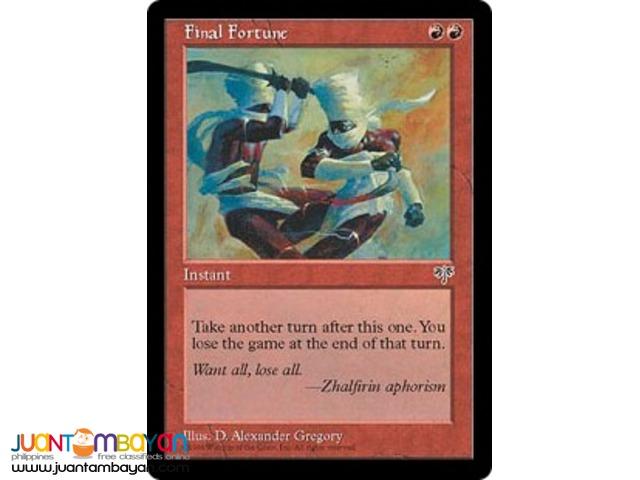 Final Fortune (Magic the Gathering Trading Card Game)
