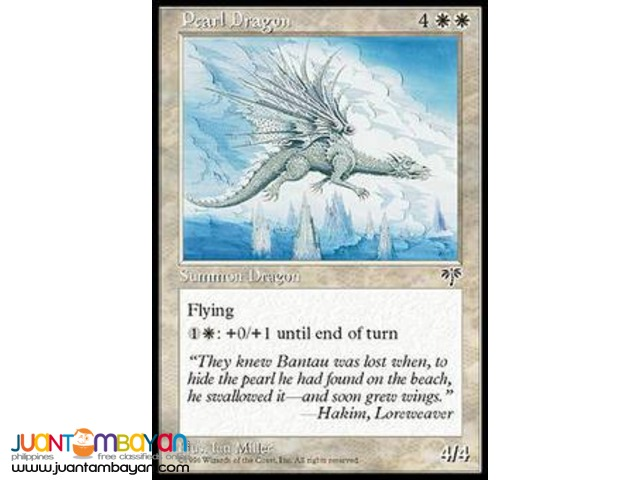 Pearl Dragon (Magic the Gathering Trading Card Game)