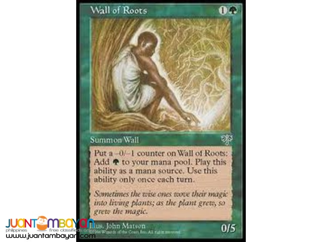 Wall of Roots (Magic the Gathering Trading Card Game)