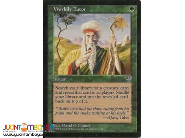 Worldly Tutor (Magic the Gathering Trading Card Game)