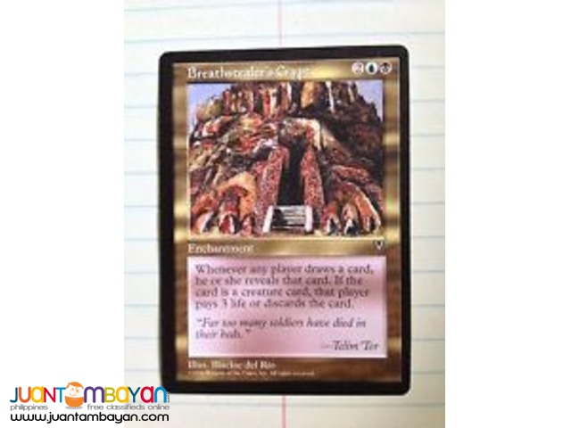 Breathstealer's Crypt (Magic the Gathering Trading Card Game)