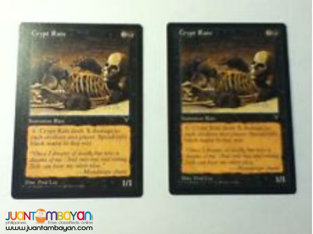 Crypt Rats (Magic the Gathering Trading Card Game)