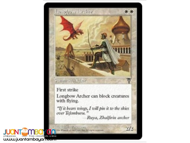 Longbow Archer (Magic the Gathering Trading Card Game)