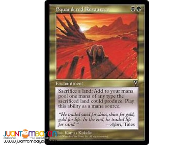 Squandered Resources (Magic the Gathering Trading Card Game)