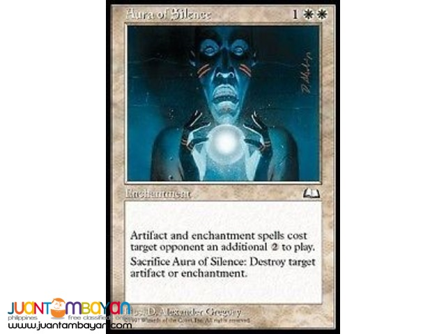 Aura of Silence (Magic the Gathering Trading Card Game)