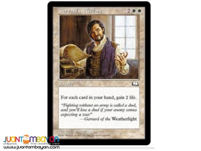 Gerrard's Wisdom (Magic the Gathering Trading Card Game)