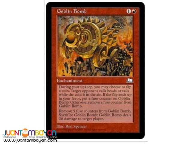 Goblin Bomb (Magic the Gathering Trading Card Game)