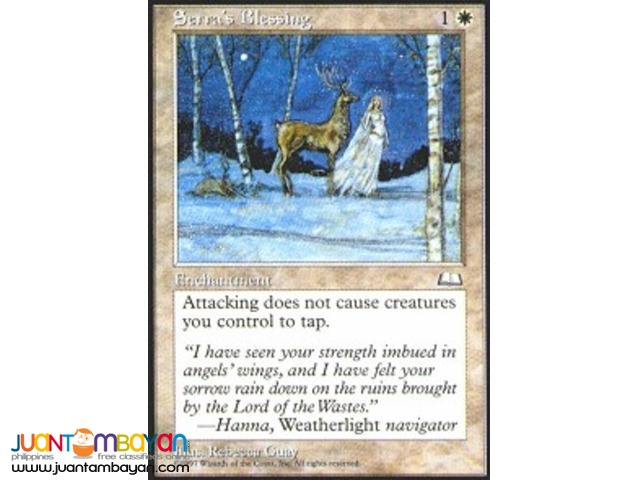 Serra's Blessing (Magic the Gathering Trading Card Game)