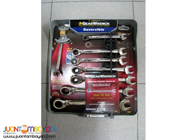 GearWrench 8 pc. Metric Reversible Ratcheting Combination Wrench Set