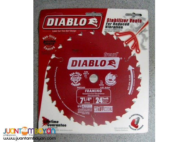 Freud D0724X Diablo 7-1/4-inch by 24-tooth ATB Carbide Saw Blade