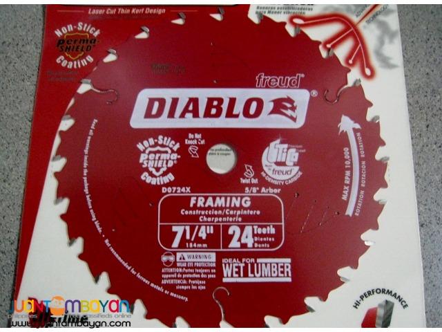 Freud D0724X Diablo 7-1/4-inch by 24-tooth ATB Carbide Saw Blade