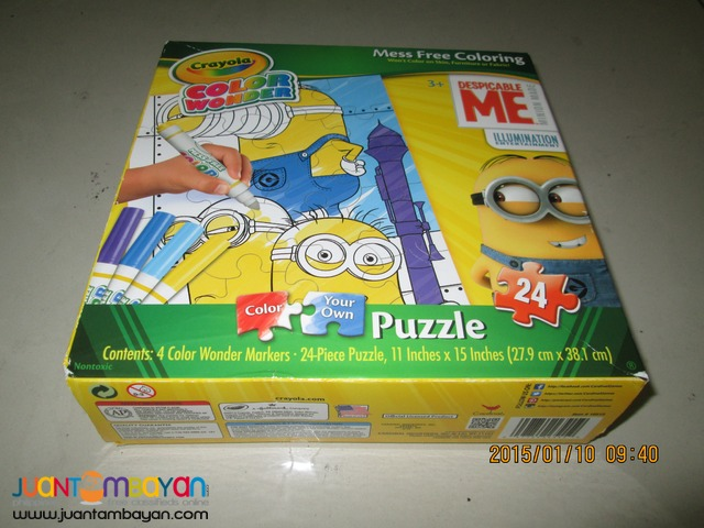 CRAYOLA Color Wonder Puzzle-Despicable ME 24 pcs.