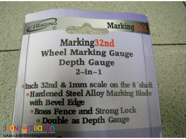 iGaging Brass Wheel Marking Cutting Mortise Gauge