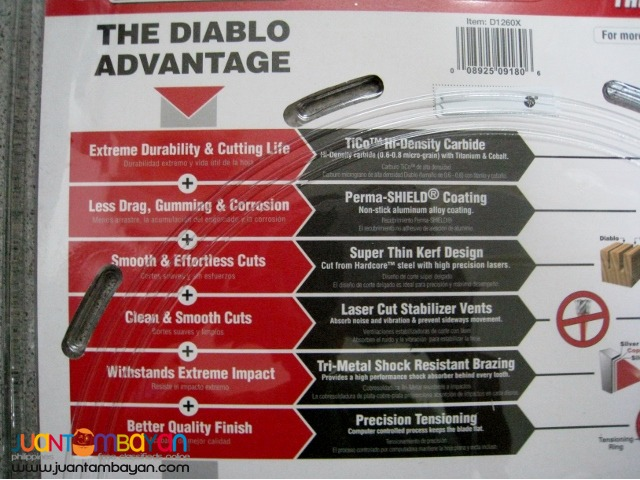 Freud D1260X Diablo Combination Saw Blade