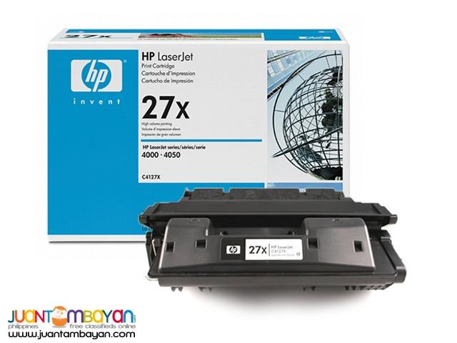 HP 27X Toner Cartridge Black (HEWC4127X) - Original