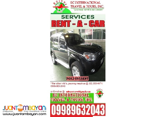 Ford Everest for HIRE
