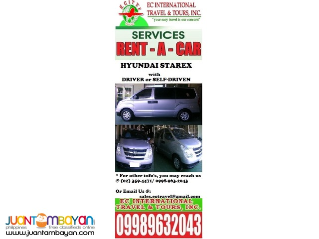 Hyundai Starex for RENT